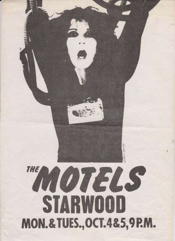 The Motels Starwood Poster